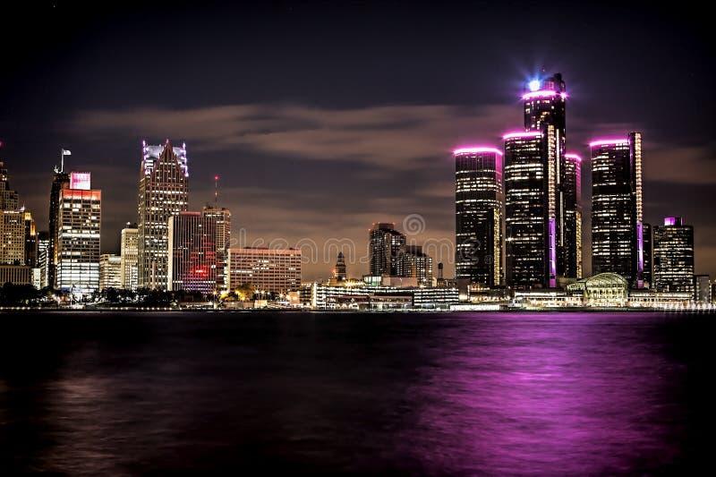 Orizzonte di Detroit fotografie stock libere da diritti