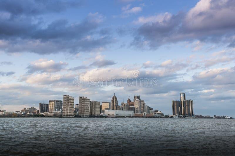 Orizzonte di Detroit Michigan fotografie stock