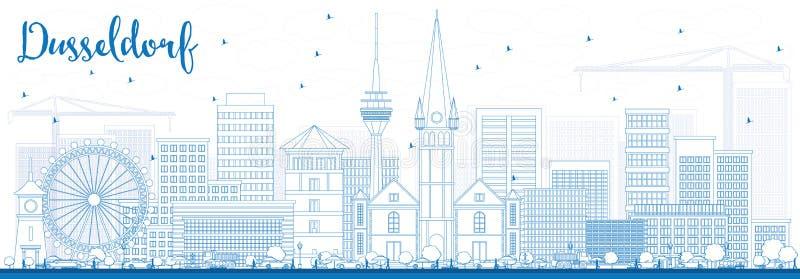 Orizzonte di dusseldorf del profilo con le costruzioni blu for Software di pianificazione del sito di costruzione