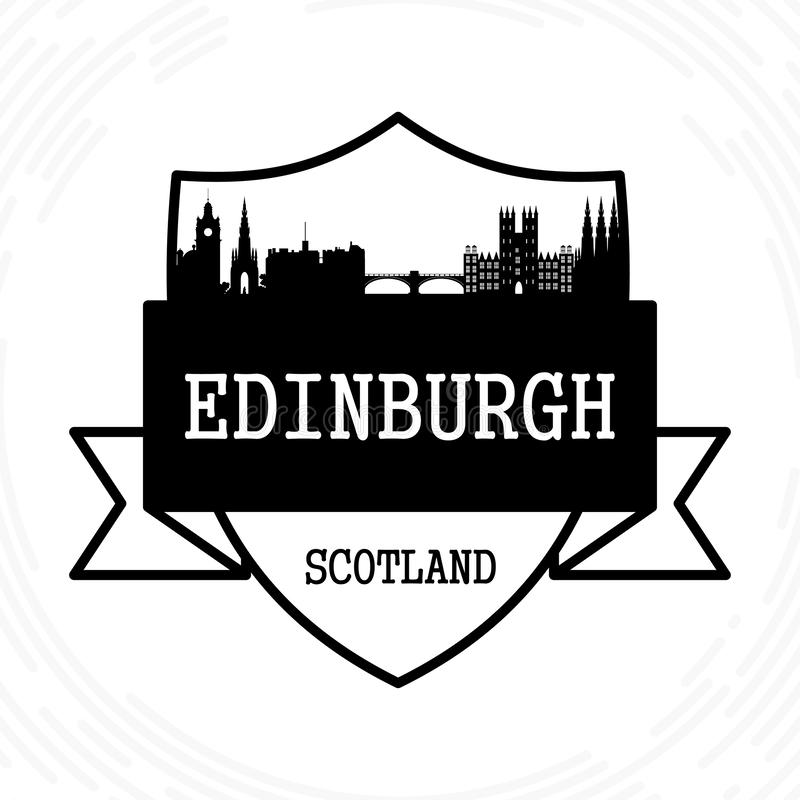 Orizzonte di Edinburgh illustrazione vettoriale