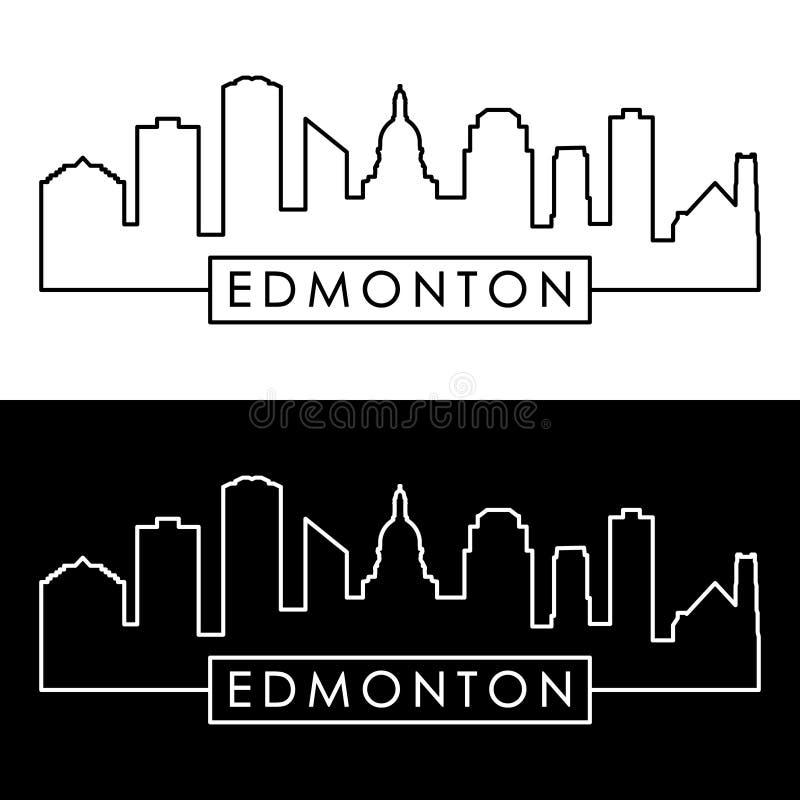Orizzonte di Edmonton stile lineare illustrazione vettoriale