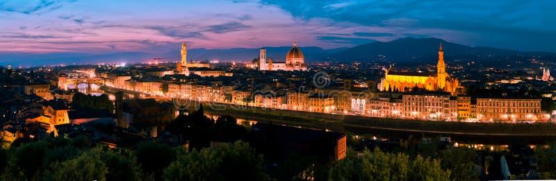 Orizzonte di Firenze al tramonto fotografia stock libera da diritti
