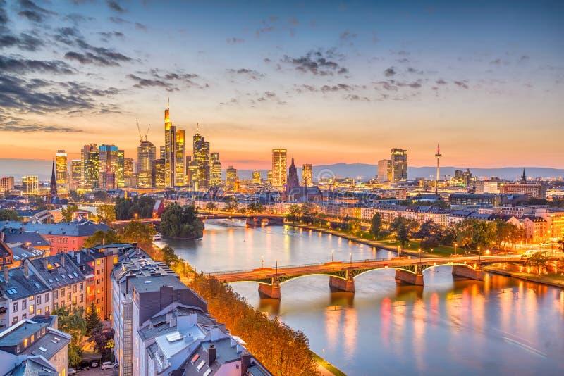 Orizzonte di Francoforte, Germania fotografia stock libera da diritti