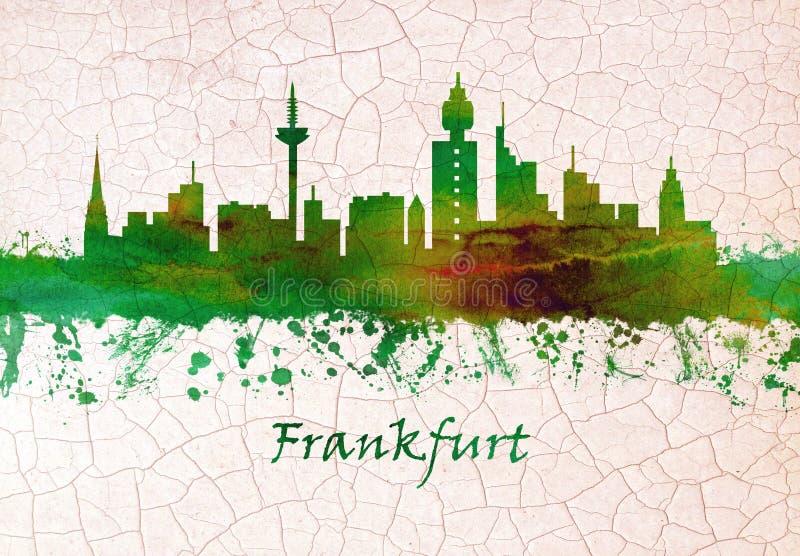 Orizzonte di Francoforte Germania disegnato a mano royalty illustrazione gratis