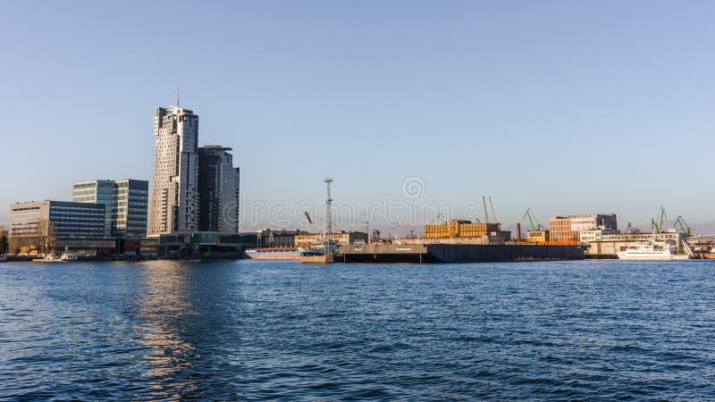 Orizzonte di Gdynia immagini stock