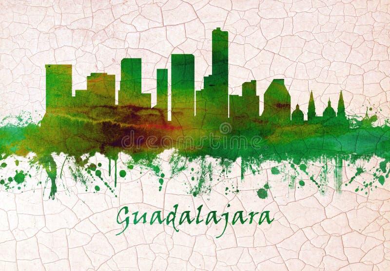 Orizzonte di Guadalajara Messico illustrazione di stock