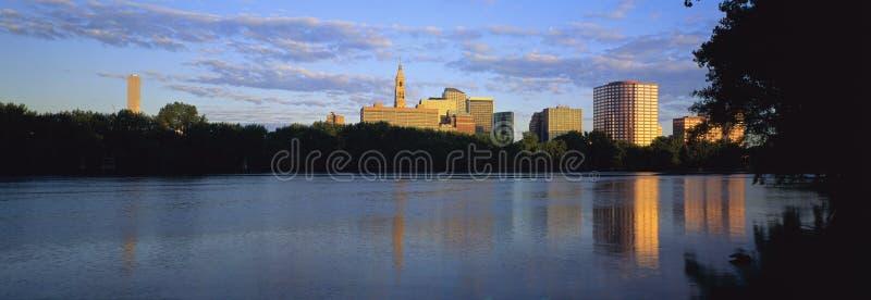 Orizzonte di Hartford fotografia stock libera da diritti