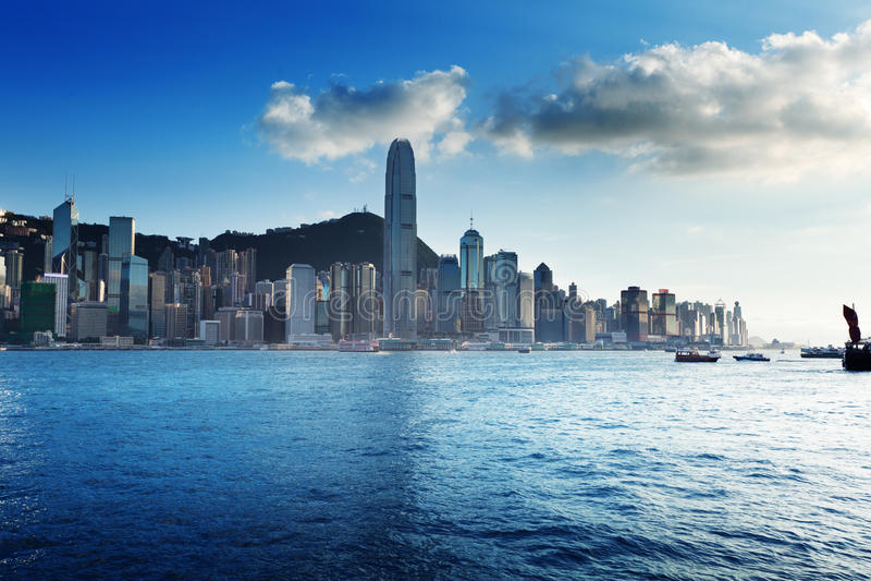 Orizzonte di Hong Kong immagine stock libera da diritti