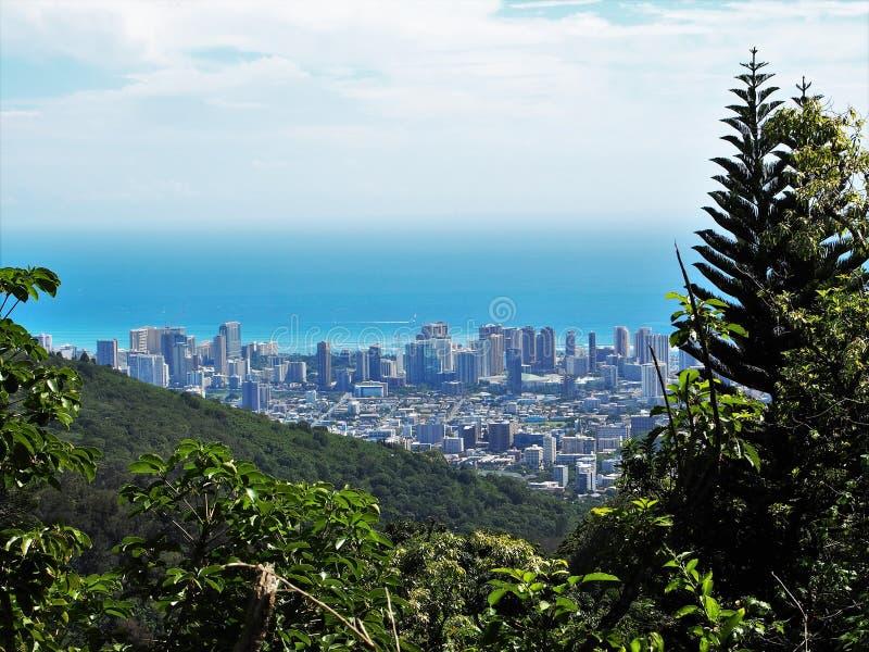 Orizzonte di Honolulu fotografia stock