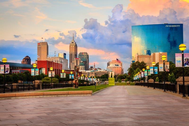 Orizzonte di Indianapolis fotografia stock