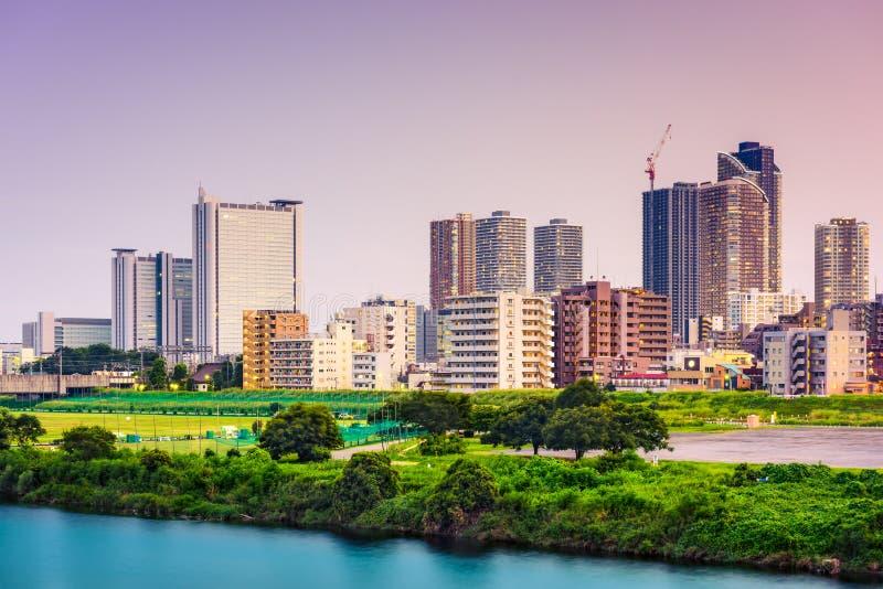 Orizzonte di Kawasaki Japan immagini stock