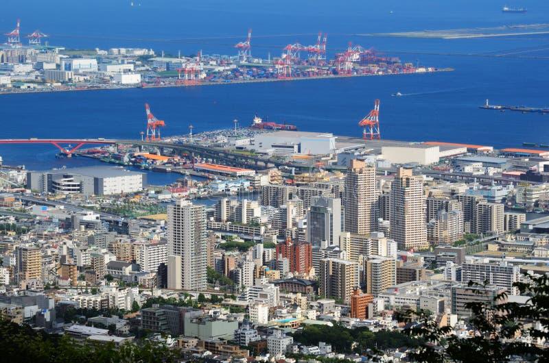 Orizzonte di Kobe, Giappone immagine stock libera da diritti