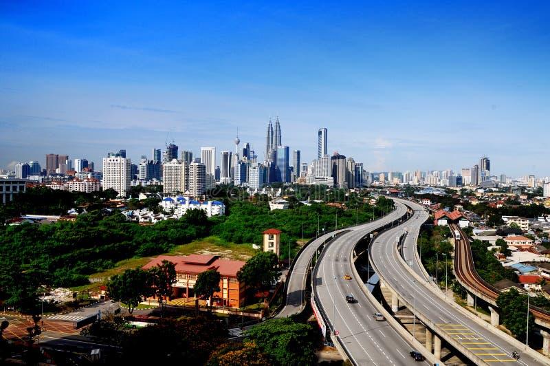Orizzonte di Kuala Lumpur fotografie stock libere da diritti