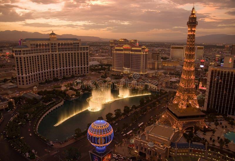 Orizzonte di Las Vegas fotografia stock libera da diritti