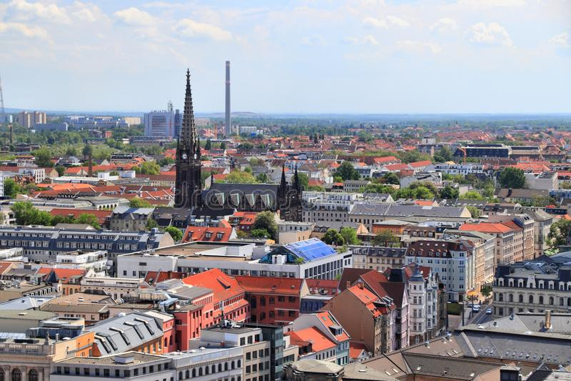 Orizzonte di Lipsia fotografia stock libera da diritti
