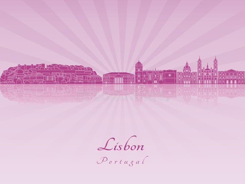 Orizzonte di Lisbona V2 in orchidea radiante porpora illustrazione vettoriale