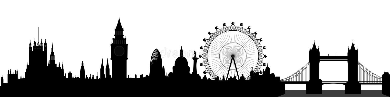 Orizzonte di Londra -   royalty illustrazione gratis