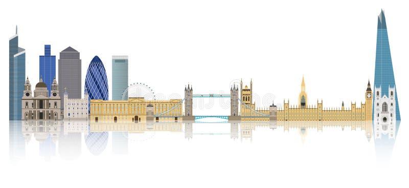 Orizzonte di Londra - Inghilterra royalty illustrazione gratis