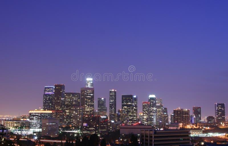 Orizzonte di Los Angeles immagini stock libere da diritti
