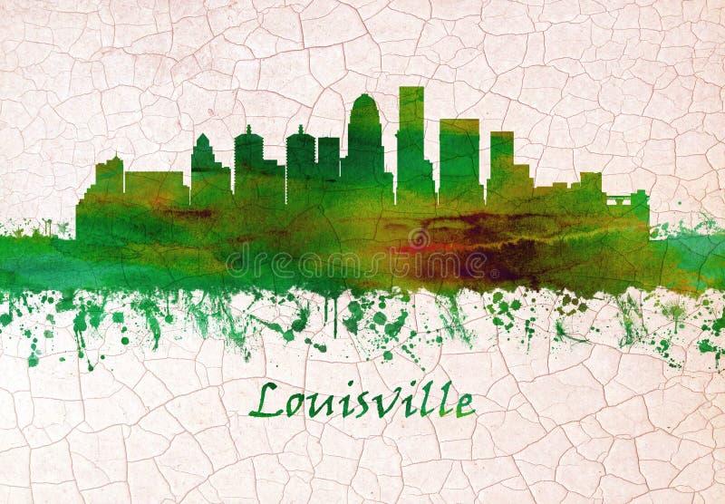 Orizzonte di Louisville Kentucky illustrazione vettoriale
