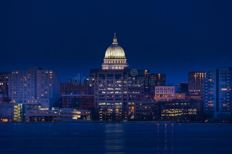 Orizzonte di Madison, Wisconsin fotografia stock libera da diritti