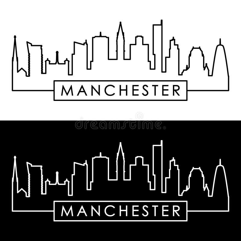 Orizzonte di Manchester stile lineare illustrazione vettoriale