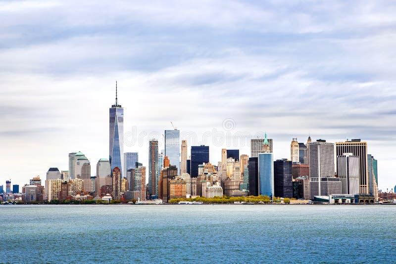 Orizzonte di Manhattan di panorama di New York fotografia stock libera da diritti