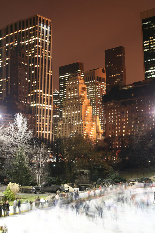 Orizzonte di Manhattan e del Central Park, New York City fotografie stock libere da diritti