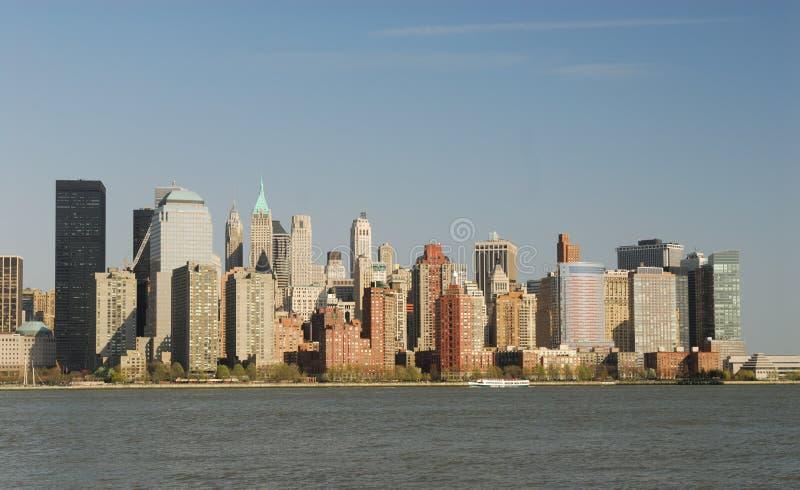Orizzonte di Manhattan, New York immagini stock libere da diritti