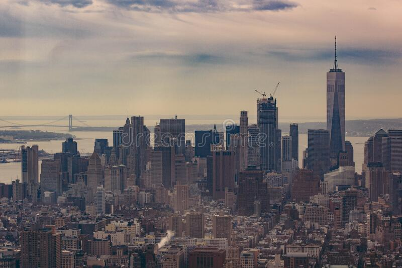 Orizzonte di Manhattan, New York fotografia stock libera da diritti