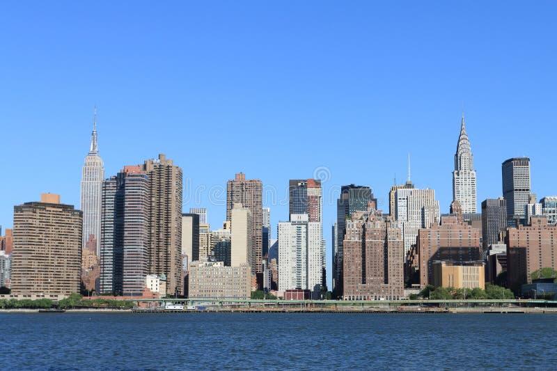 Orizzonte di Manhattan, New York City immagini stock libere da diritti