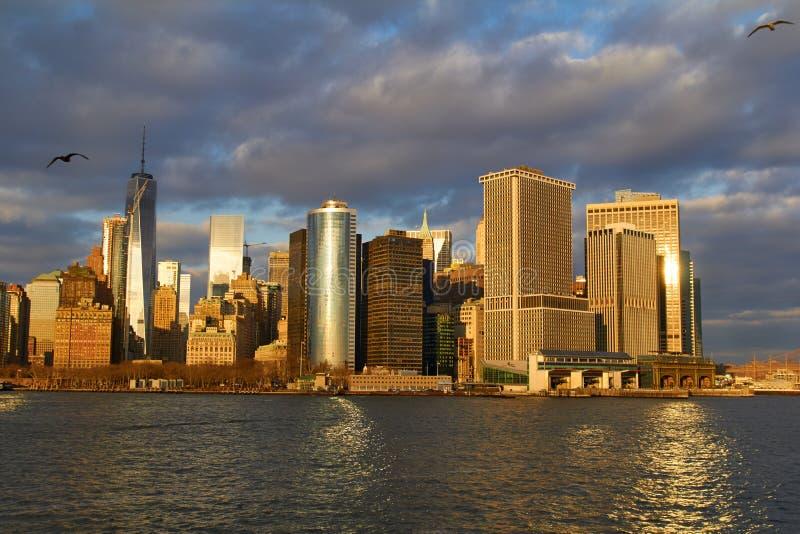 Orizzonte di Manhattan, New York, U.S.A. immagine stock libera da diritti