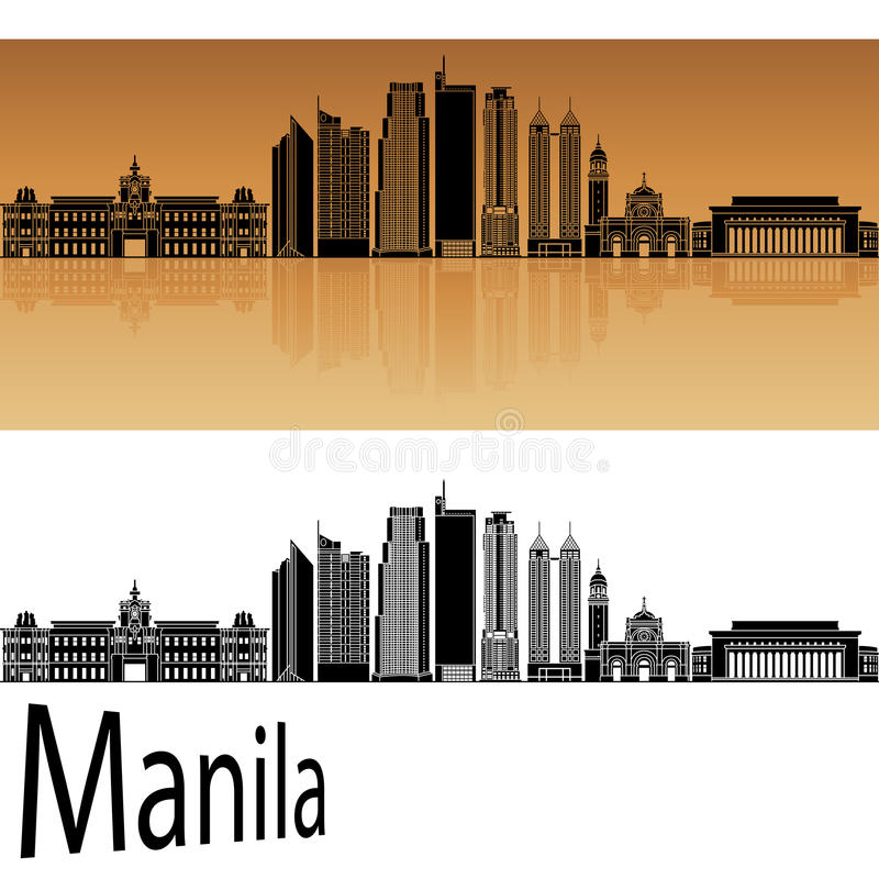 Orizzonte di Manila royalty illustrazione gratis