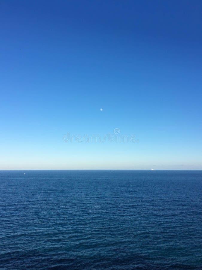 Orizzonte di mare a Moraira Spagna immagine stock libera da diritti