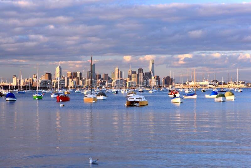 Orizzonte di Melbourne fotografia stock libera da diritti