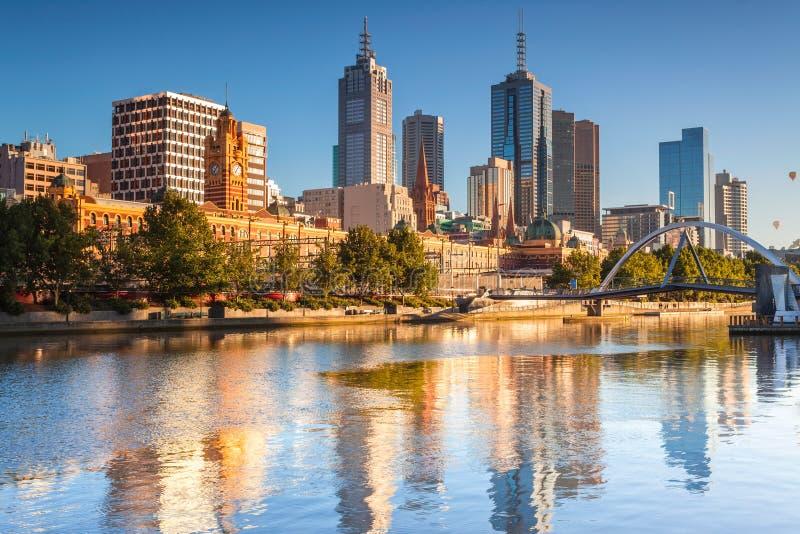 Orizzonte di Melbourne immagine stock