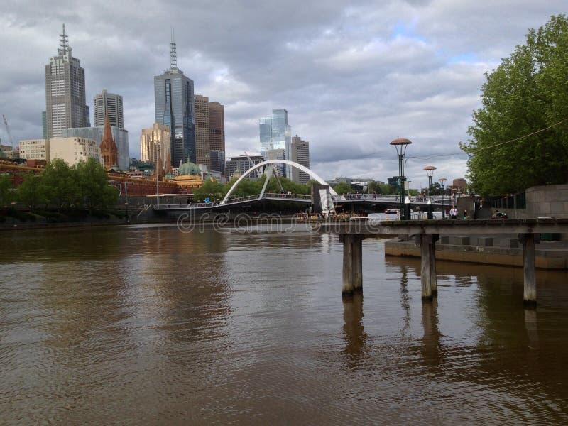 Orizzonte di Melbourne fotografie stock