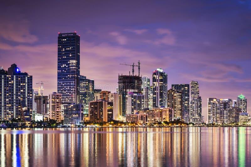 Orizzonte di Miami immagini stock