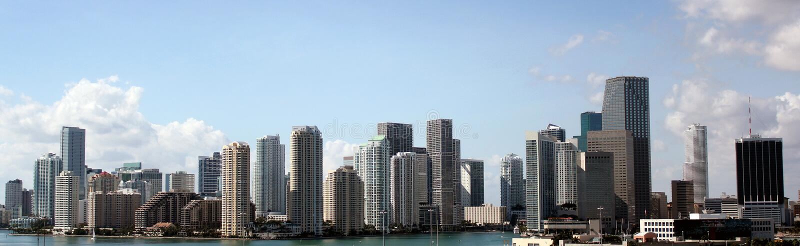 Orizzonte di Miami, Florida immagini stock libere da diritti