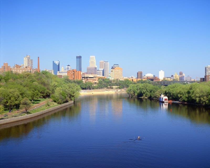 Orizzonte di Minneapolis fotografie stock libere da diritti