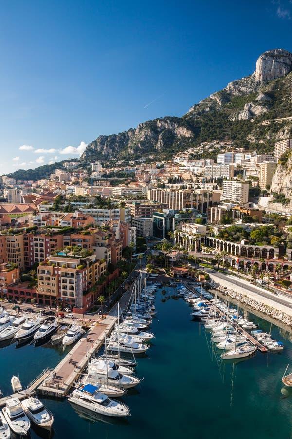 Orizzonte di Monte Carlo Il riviera francese fotografia stock