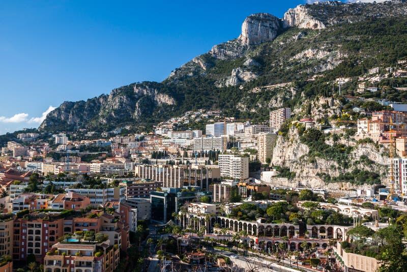 Orizzonte di Monte Carlo, Riviera francese fotografia stock