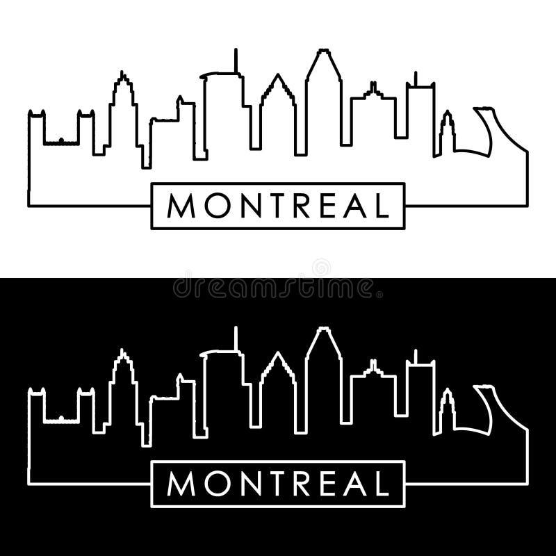 Orizzonte di Montreal stile lineare illustrazione di stock