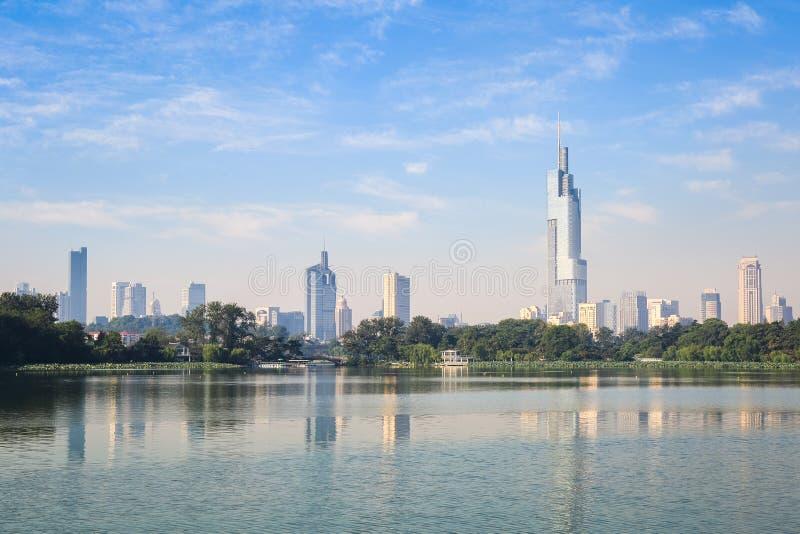 Orizzonte di Nanchino immagine stock