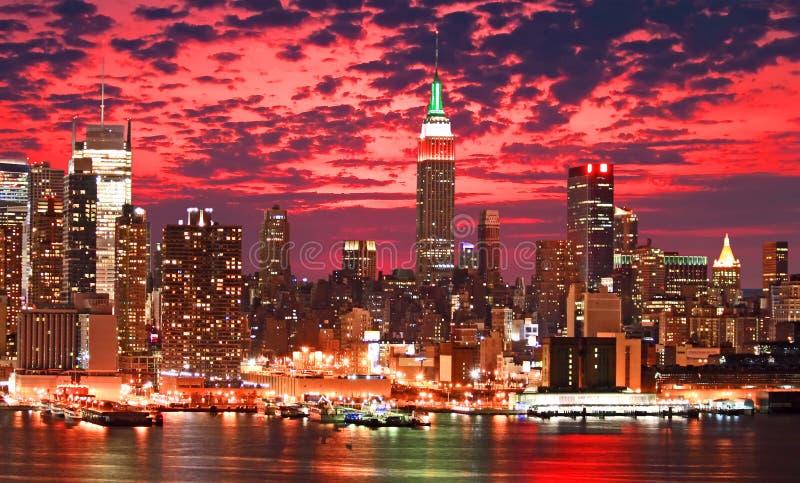 Orizzonte di New York City immagine stock