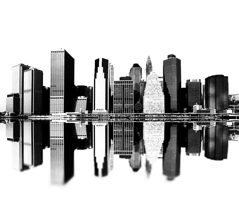 Orizzonte di New York City illustrazione di stock
