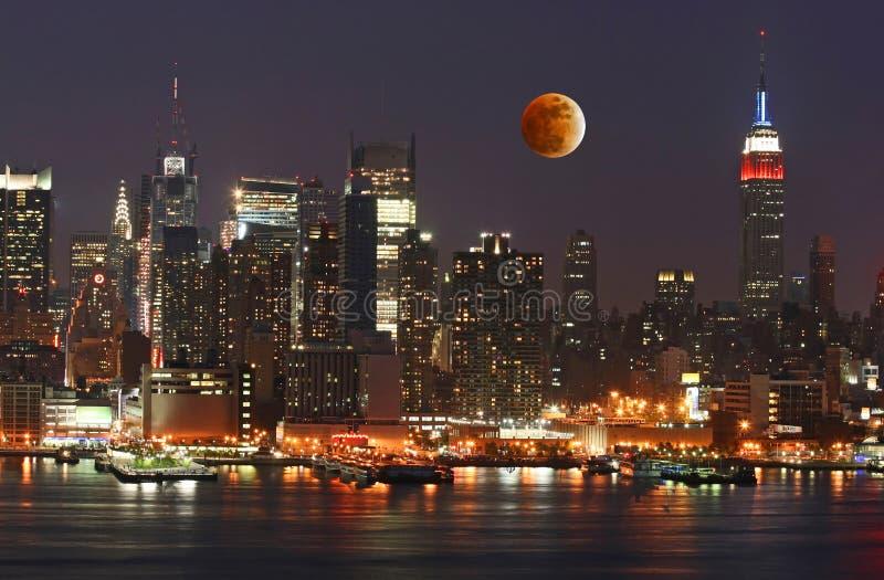 Orizzonte di New York City del Th immagini stock