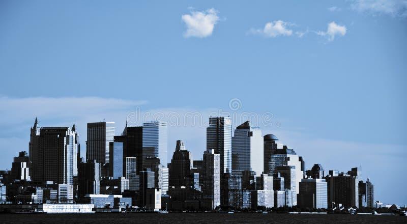 Orizzonte di New York City, nyc del centro, S.U.A. fotografia stock