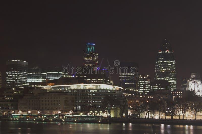 Orizzonte di notte di Londra immagine stock libera da diritti