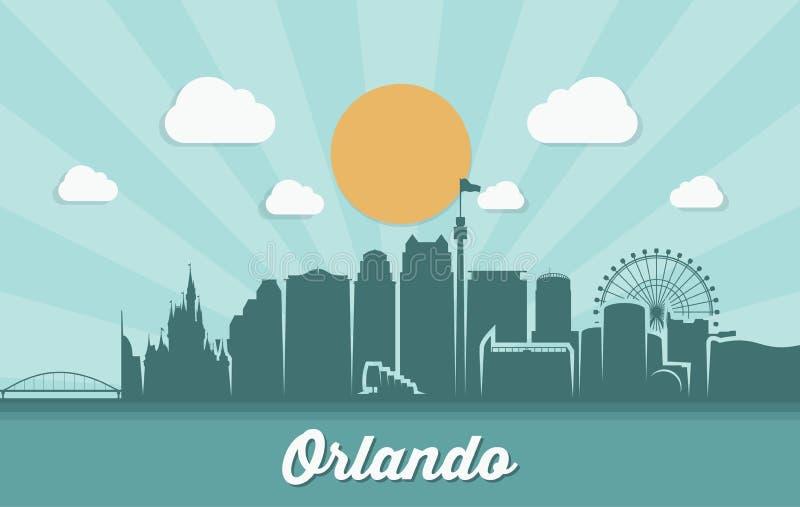 Orizzonte di Orlando - Florida - illustrazione di vettore illustrazione vettoriale